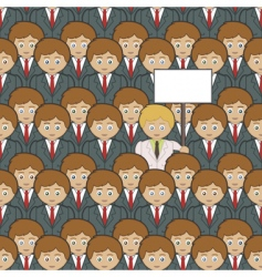 stand out from the crowd vector image