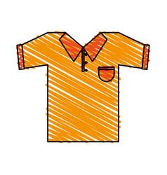 Color crayon stripe cartoon golf t-shirt sport vector