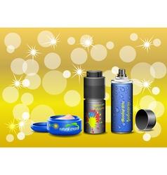 Cosmetic cream and deodorant vector image