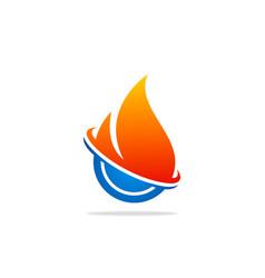 gas bio technology abstract logo vector image
