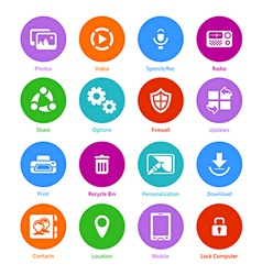 System flat icons - Set II vector image