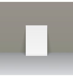 Sheet of paper beside the wall vector