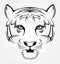 Tiger face tattoo vector