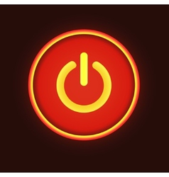 Red neon button vector