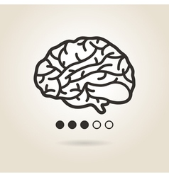 Icon brain vector