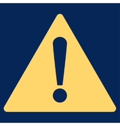 Warning flat yellow color icon vector