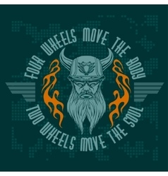 Bearded biker vintage bikers badge vector