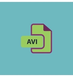 Avi video file extension icon vector