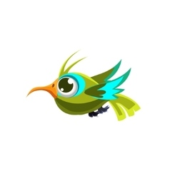 Cute green hummingbird vector