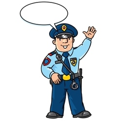 Funny policeman children vector