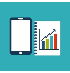Smartphone and infographic icon media design vector