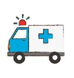Ambulance with siren icon image vector