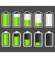 battery indicator vector image
