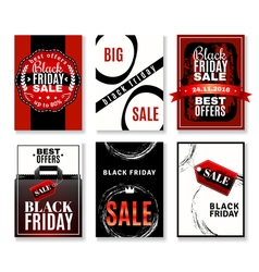 Black friday sale flyers collection vector