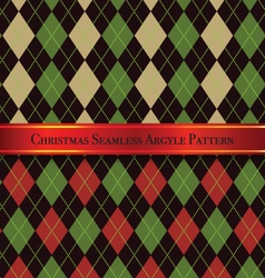 Christmas Seamless Argyle Pattern Design Set 5 vector image