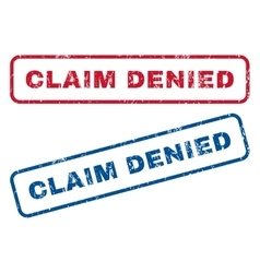 Claim denied rubber stamps vector