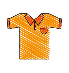 Color crayon stripe cartoon golf t-shirt sport vector