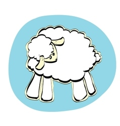 Cute christmas or eid al adha sheep vector