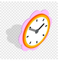 daisy clock isometric icon vector image