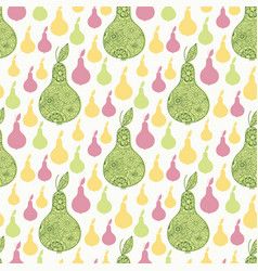 Elegant decorative pears seamless pattern textile vector