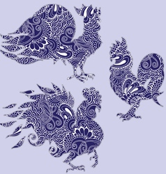 Freehand drawing of birds vector image vector image