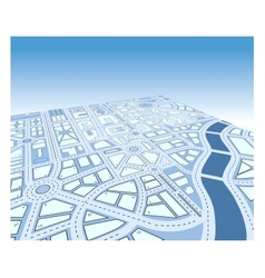 Isometric map vector image vector image