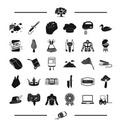 Medicine leisure and other web icon in black vector