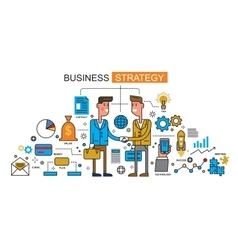 men and business vector image