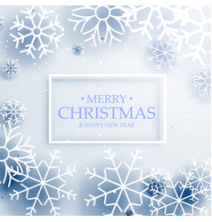 Minimal style merry christmas greeting with vector