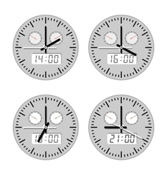 Movements and watches vector image vector image