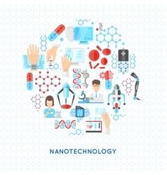 Nanotechnology round design vector