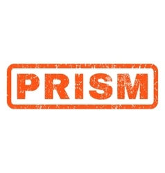 Prism rubber stamp vector
