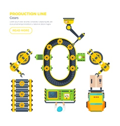 Production Line Top View vector image vector image