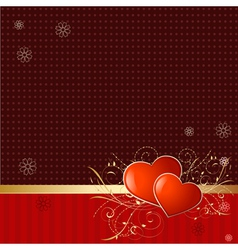 retro wallpaper with valentine vector image vector image