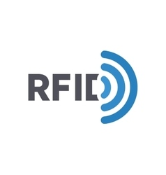 Rfid tag logo radio-frequency vector