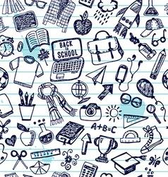 Seamless pattern of school back to school vector