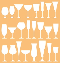 set of wine glass icon vector image vector image
