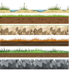 soil horizontal patterns vector image