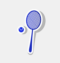 Tennis racquet sign new year bluish icon vector