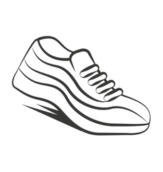 tennis runner shoes isolated icon vector image vector image