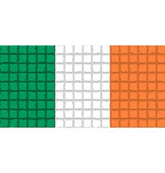 The mosaic flag of Ireland vector image vector image
