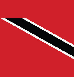 Trinidad amp tobago flag for independence day vector