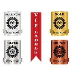 VIP Package Labels vector image