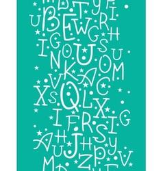 White on green alphabet letters vertical seamless vector