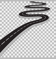 winding road with transparent shadow template vector image vector image