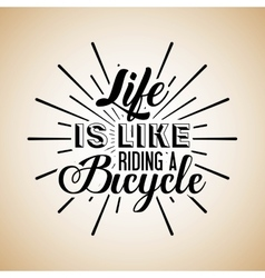 Love my bike calligraphy vector