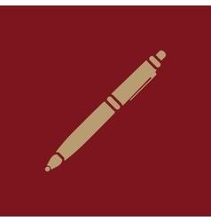 The ballpoint pen icon Pen symbol Flat vector image