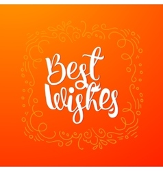 Best wishes quote banner vector