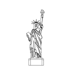 Liberty statue isolated icon vector