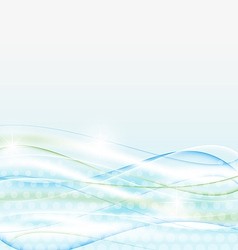 Abstract water background wawy design vector image